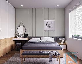 3D asset animated bedroom BGdesign
