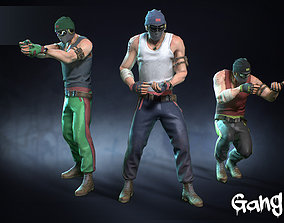 Male Gang 01 3D asset rigged