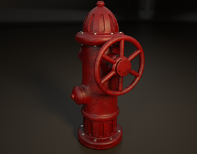 3D rigged Fire Hydrant