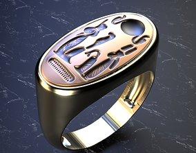 3D printable model akhenaten ring