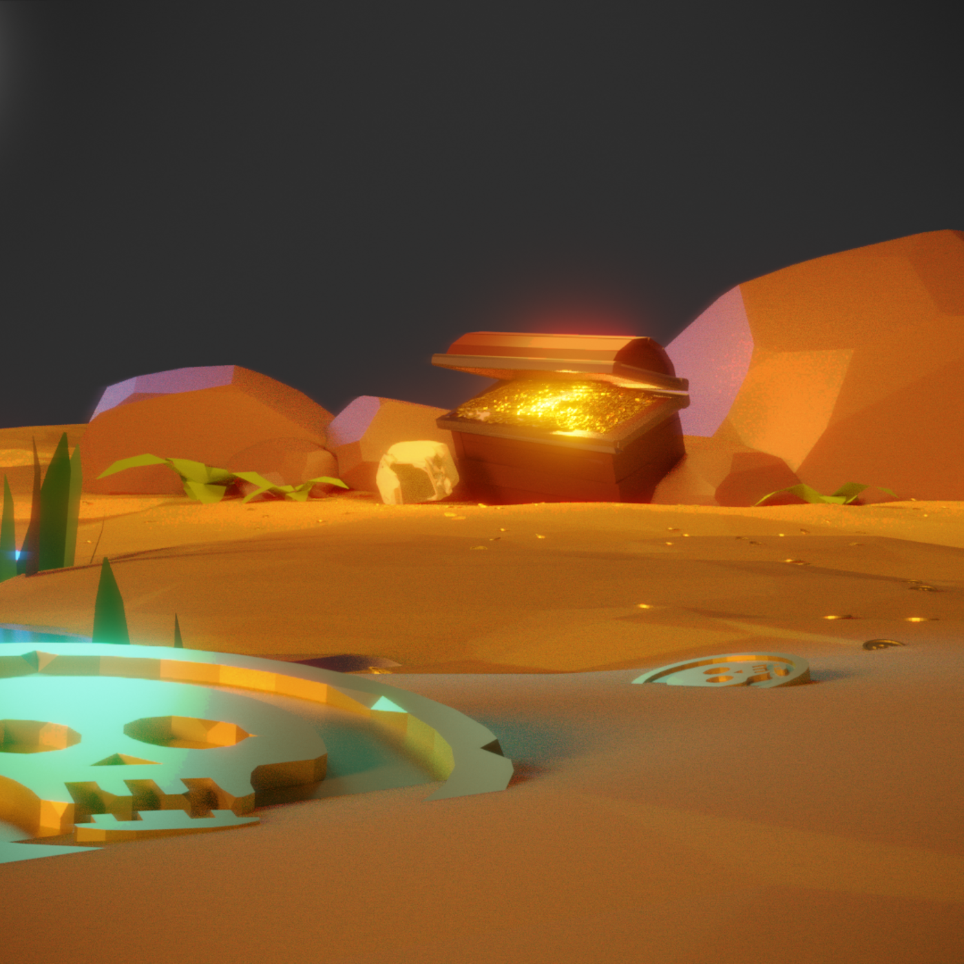 Lost Treasure - Low Poly