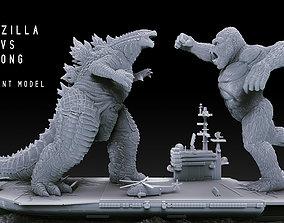Godzilla vs Kong Diorama Monsterverse 3D printable model