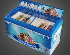 Commerical Ice Cream Cooler - SAM - PBR Game 3D asset