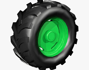 3D print model Tractor Wheel