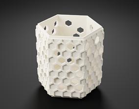 Hexagonal pen holder 3D print model