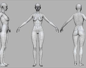 3D asset Female Base Mesh For AAA