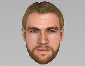 3D model actor Thor Chris Hemsworth Avengers