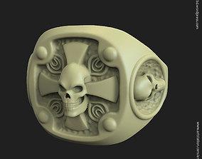 jewel Biker skull vol14 ring 3D printable model