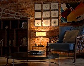 3D model Room of the artist