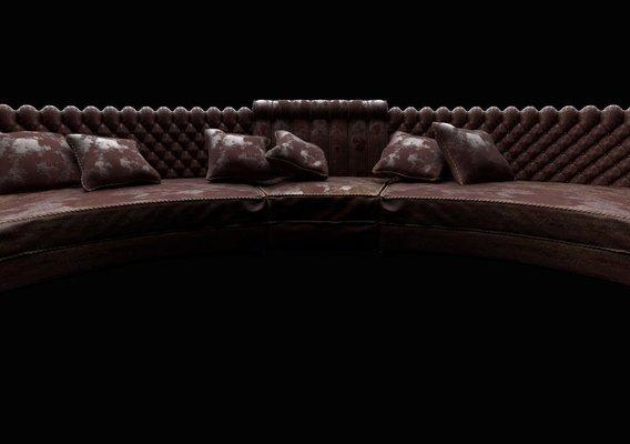 Weathered Leather Sofa