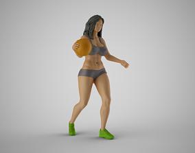 Girl Plays Street Basketball 3 3D printable model