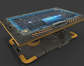 3D asset Sci Fi Hologram Table