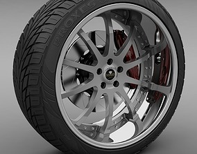 3D Savini Forged SV-26S Wheel and Tire