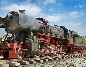 BR-52 Kriegslok Steam Locomotive Engine 3D