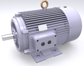3D industrial stator Electric Motor