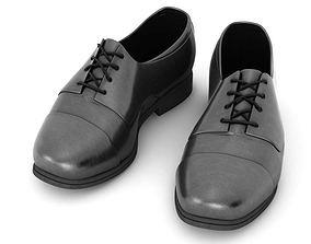 Black Mens Shoes 3D