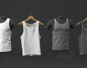 Tank top cloth set 3D model