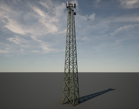 3D model Military Radio Tower