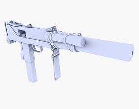 3D asset MAC 10 Sub Submachine Gun