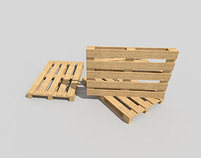 ab Wooden Pallet 3D model game-ready