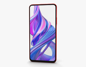 3D model Honor 9X Charm Red