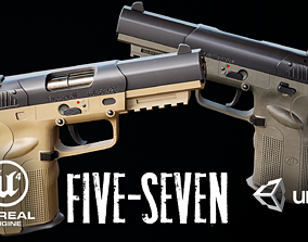 FN Five-seven Low-poly 3D model VR / AR ready