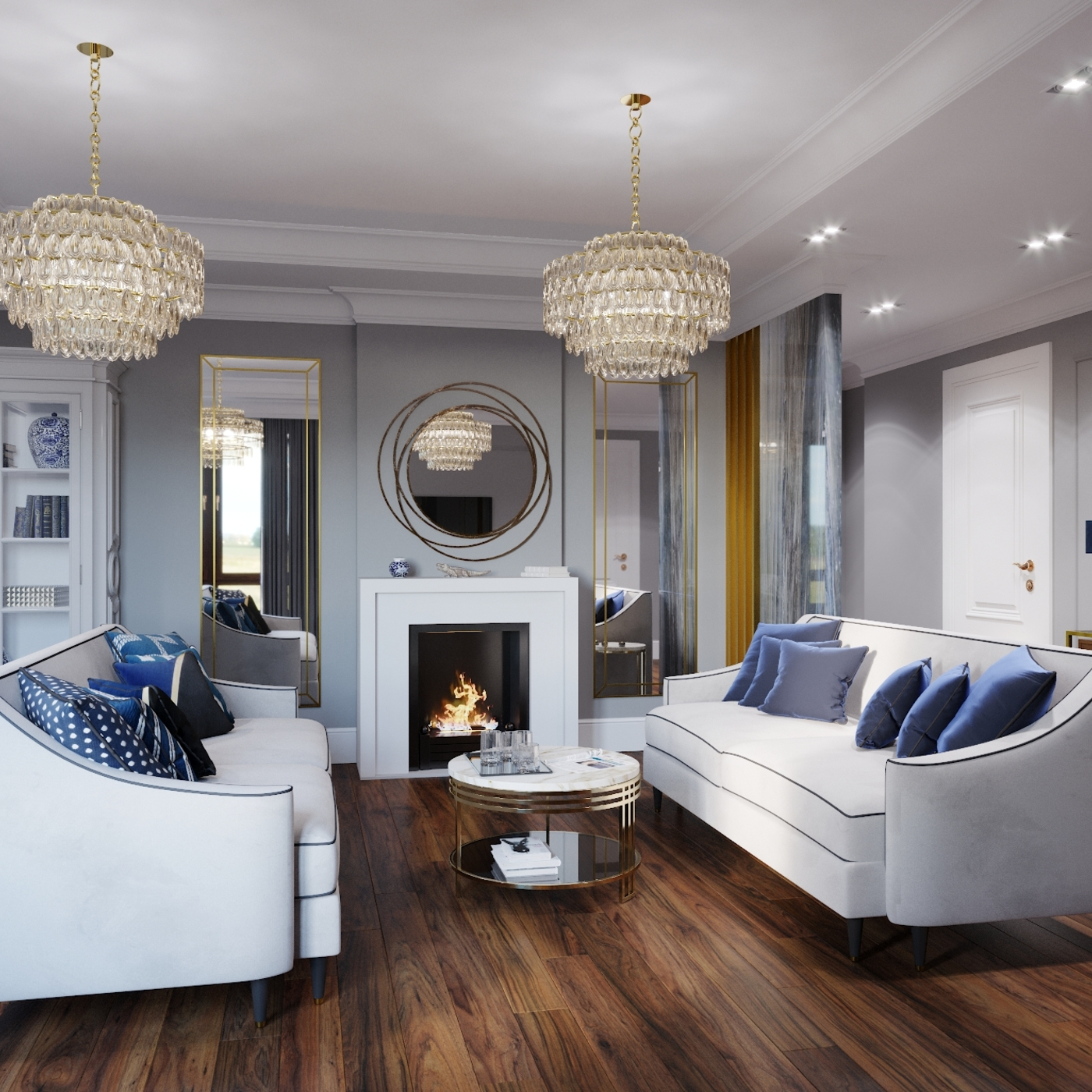 Living room in the classical style