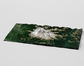 3D model landscape Snow Mountain