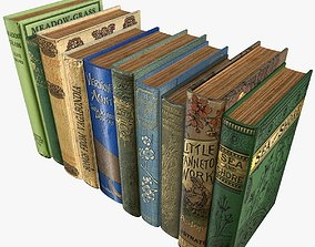 Old Books Type 2 Low Poly 3D model