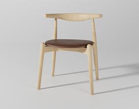 Elbow chair CH20 3D model