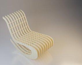 3D Wooden Parametric Loft Chair
