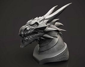 3D print model Dragon Bust reptile