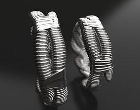 Pairing Worms wedding bands - original 3D print model