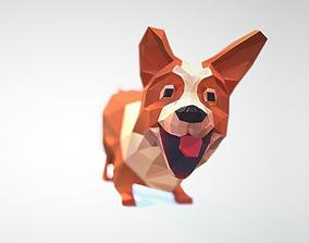 3D model Dog corgi