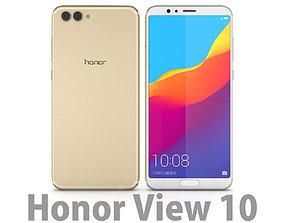 3D model Huawei Honor View 10 Beach Gold