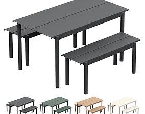 MUUTO Linear Steel Garden Set 3D asset