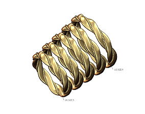 3D printable model Beaded braided motif fashion band US 1