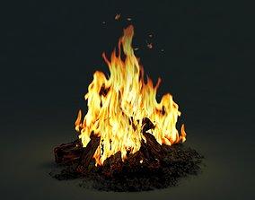 flaming 3dsmax 3D Camp Fire