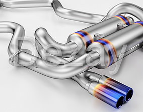Tuning exhaust system car 3D model