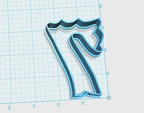 3D print model Vintage number 7 cookie cutter