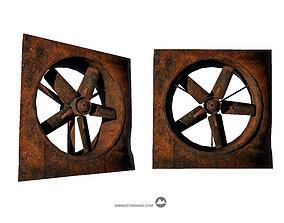 Axial Flow Fan 3D model game-ready