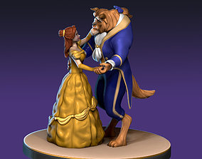 Beauty and the Beast 3D print model