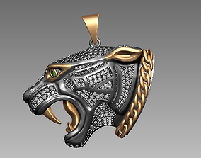 3D print model luxury Panther pendant