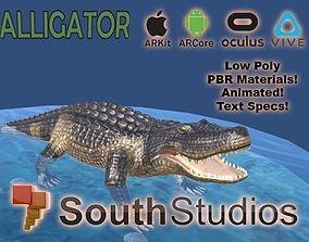 Animated Alligator AR VR Unity 3dsmax animated