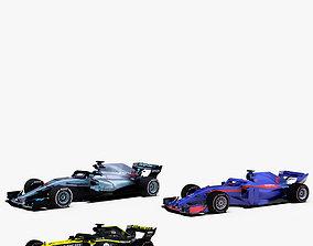 Formula 1 2018 cars Pack 3 3D model