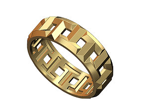 T wedding band replica 3D print model