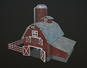 Farm barn 3D asset low-poly