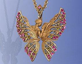 3D print model Gold Magerit Eternal Lovers Pendant