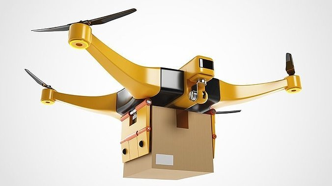 package-delivery-drone-3d-model-max-obj-
