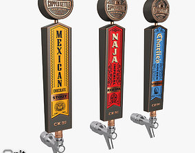 Beer Taps Copper Kettle Brewing pale 3D